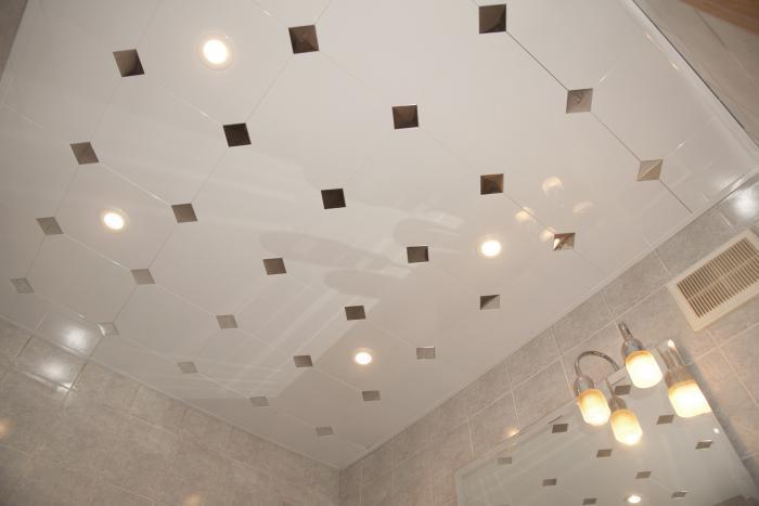 Дизайн потолков из панелей фото