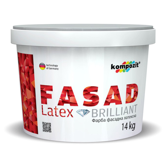 Краска фасадная FASAD Latex 1л. 3л. 5л. 14л.