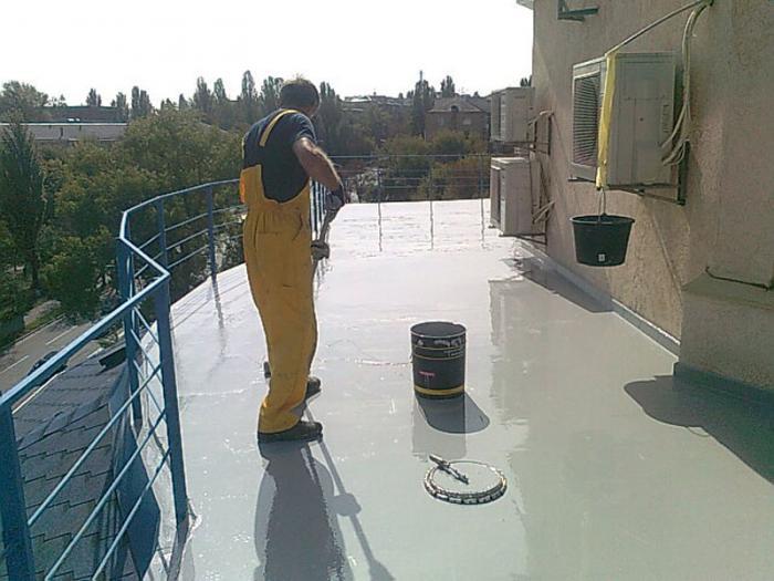 Гидроизоляция балкона мастикой..