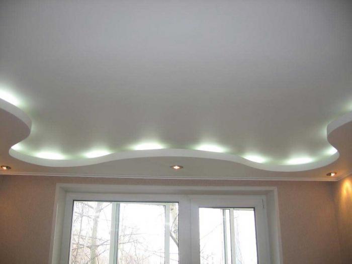 Гипсокартонный потолок волной