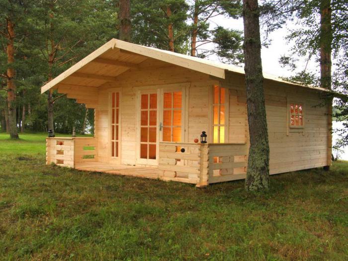 дачные бревенчатые домики 10