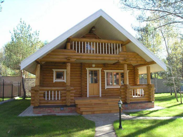 дачные бревенчатые домики 12