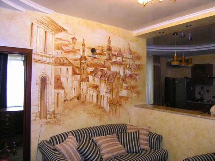 Декоративная отделка стен в квартире своими руками 68