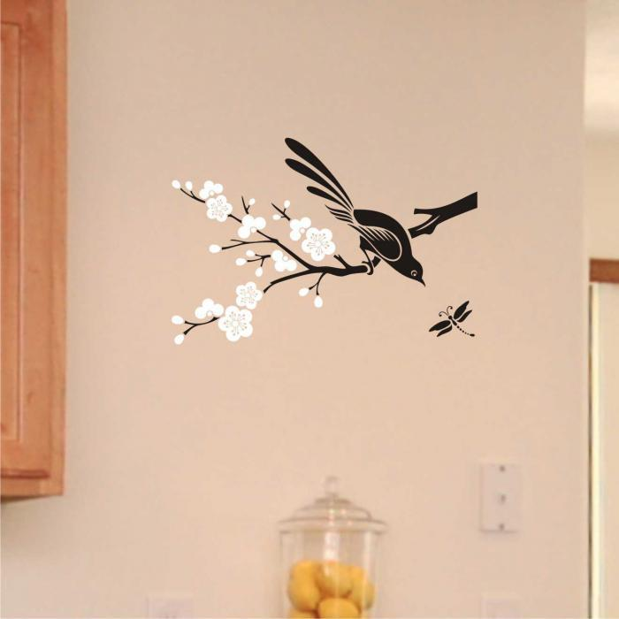 Трафареты птиц на стену своими руками
