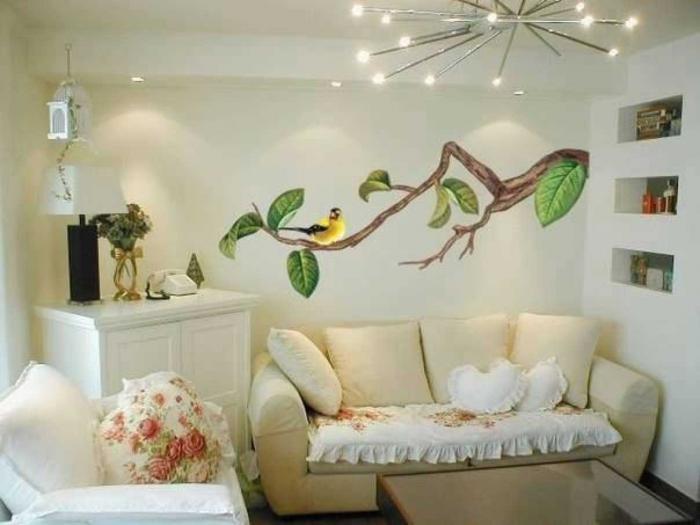 Декоративный рисунок на стене своими руками фото