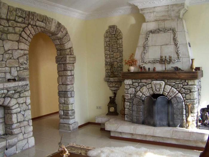 Декоративная отделка камина своими руками 52
