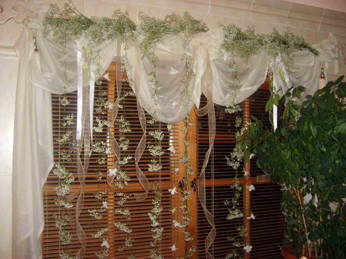 Как оригинально украсить шторы своими руками? (20 фото) 70