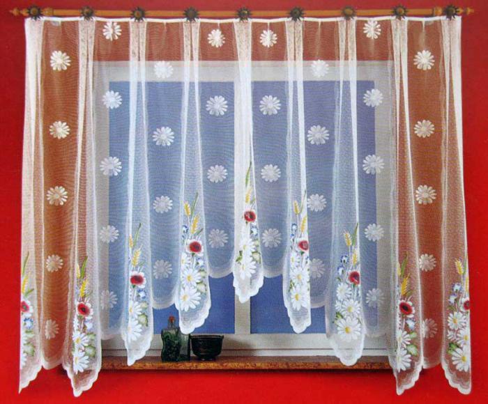 Дизайн тюля для кухни фото
