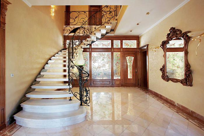 Холл с лестницей фото