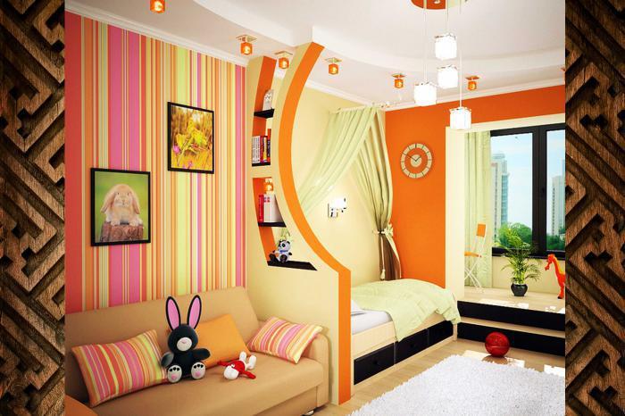 Дизайн интерьера детских комнат и их декорирование derevko.