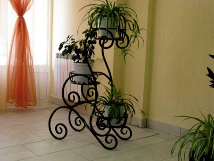 Подставка под цветы из ковки