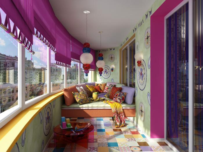 Большой балкон - 77 фото изумительного дизайна в современном.