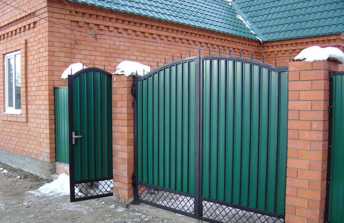 Фото ворот из профнастила своими руками